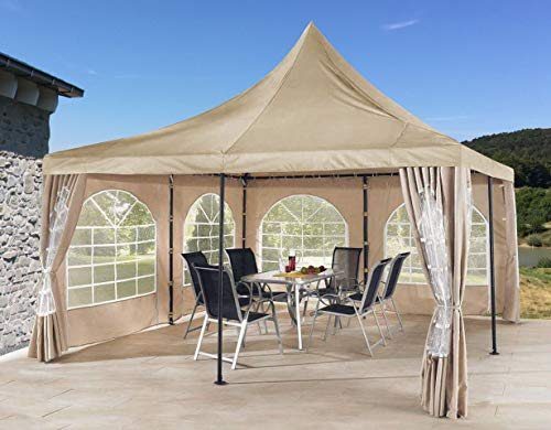 QUICK STAR Ersatzdach 4x4m für Lounge Pavillon Sahara Sand