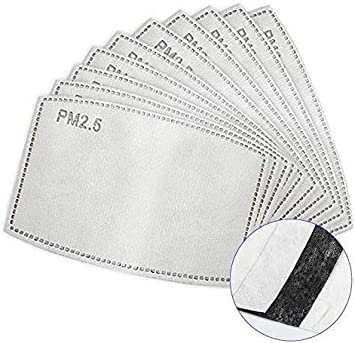 filtros de carbón activado | 5 capas de filtro protector de reemplazo de filtro anti neblina filtro protector de boca para exteriores - pm 2.5 filtro (30pcs)