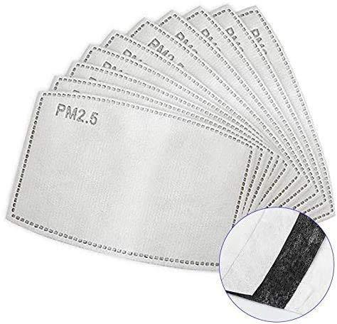 Pm2.5 Filter Aktivkohlefilter 5-lagig pm 2.5 Filter | Kohlefilter Ersatzfilter Filtereinsatz Einlage Austauschfilter Filterpapier | Carbon Filter Replacement (30pcs)