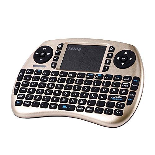 Tsing Mini Teclado Inalámbrico 2.4GHz (Disposición en Español) con ratón touchpad (Gris)