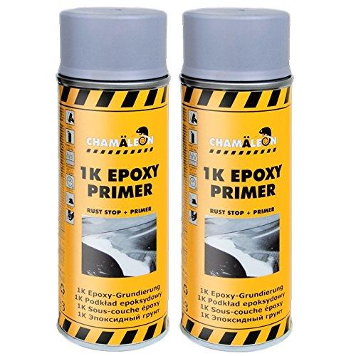 Chamäleon 2 x 400ml 1K Grau Epoxy Primer GRUNDIERUNG Spray KORROSIONSSCHUTZ