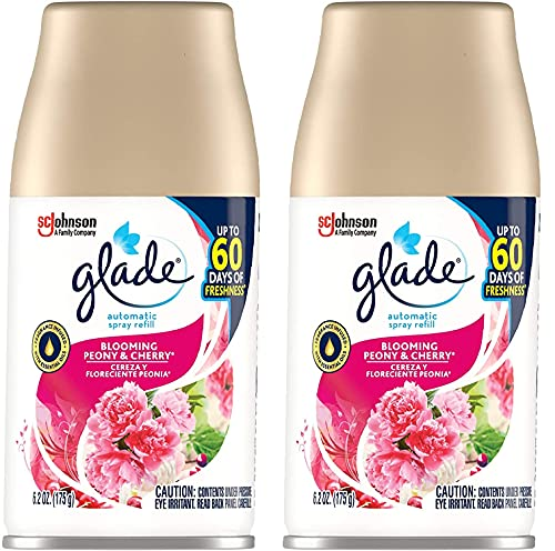 Automatic Spray Refill, Air Freshener for Home and Bathroom, Blooming Peony & Cherry, 6.2 Oz 02 Pack (6.2 Oz)
