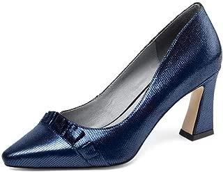 Nine Seven Women's Leather SquareToe Exquiste Heel