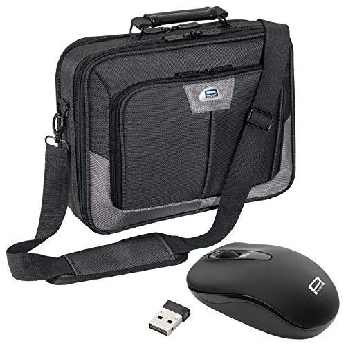 Pedea Premium Notebooktasche - 43,9 cm (17,3 Zoll), grau + schnurlose Maus 2,4 GHz