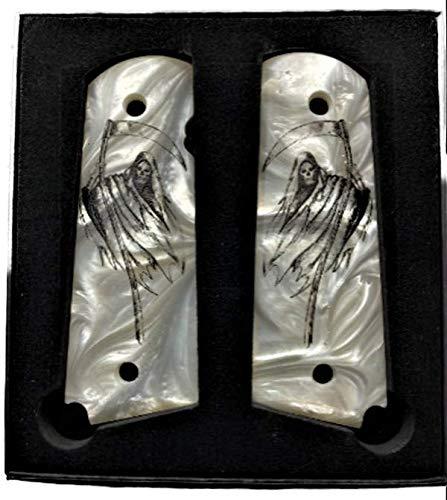 Premium Gun Grips 1911 Full Size Grim Reaper Compatible Replacement for Colt Gov and Clones