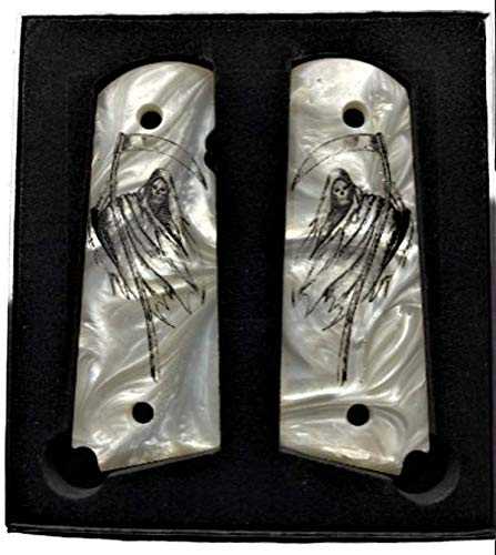 Premium Gun Grips 1911 Full Size Grim Reaper Compatible Replacement for Colt Gov and Clones