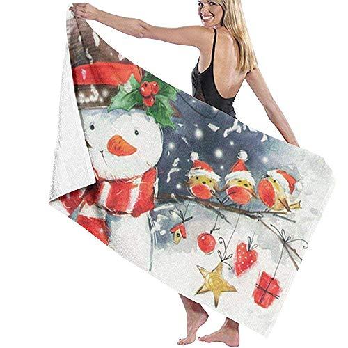 Babydo Pooltuch Weihnachten Schneemann Vogel Schneeflocke Drucke Schwimmen Dusche Damen Strandtücher Spa Pooltücher Bademantel Vertuschung Badetücher