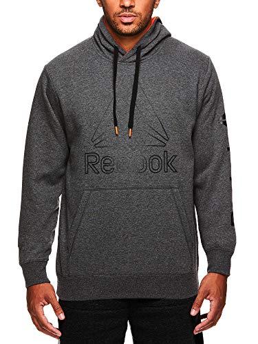 Reebok Men's Performance Pullover Hoodie - Graphic Hooded Activewear Sweatshirt - Mand Red Box Jump, X-Large