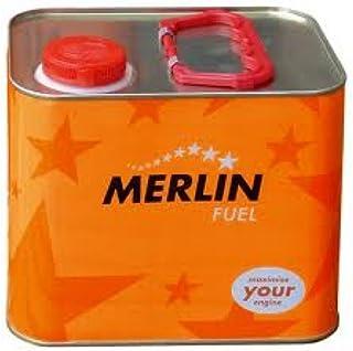 Combustible para coches de radiocontrol de gasolina. Merlin Expert 16% Nitrometano. Lata de 2.5L