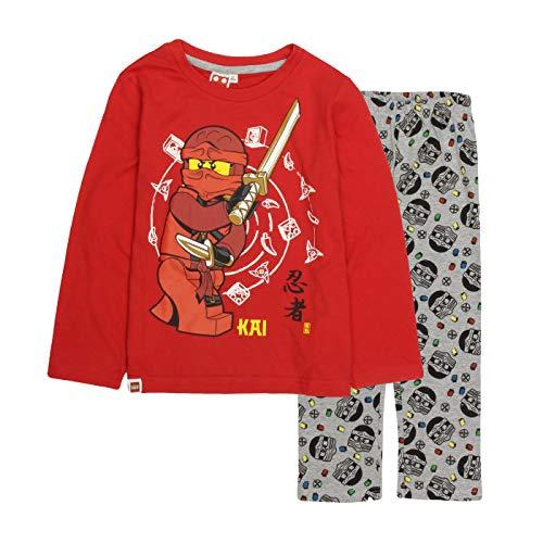 Ninjago Schlafanzug Pyjama rot Gr. 128