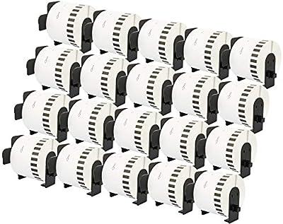20x Etiketten kompatibel für Brother DK-22210 P-Touch QL500 QL550 QL570 QL700