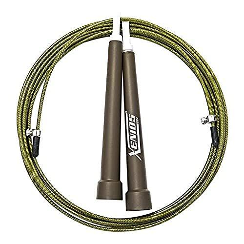 Xenios USA XSPJPRP01GN Combas-Cuerda para Saltar Ajustable - Ultra-Speed Jump Rope