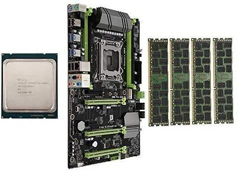 MUKUAI54 X79-P3 LGA2011 - Conjunto de placa base con CPU E5 1650 V2 4 x 8 GB 32 GB DDR3 RAM 4-Ch 1600 MHz REG ECC NGFF M.2 SSD Slot Computer DIY