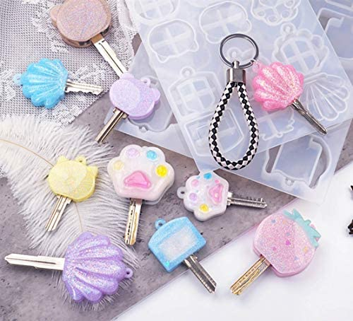 Key Cover Resin Molds Key Caps Key Head Pendant Jewelry Crystal Crafts Handmade Gifts Casting product image