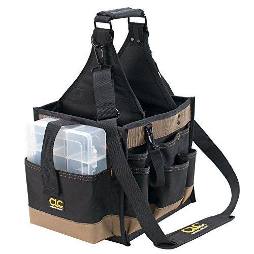 CLC Custom LeatherCraft 1528 Large Electrical and Maintenance Tool Carrier, 22 Pocket , Black , 11