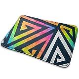 hdyefe - Felpudo antideslizante para interiores (60 x 40 cm), diseño de triángulos arcoíris
