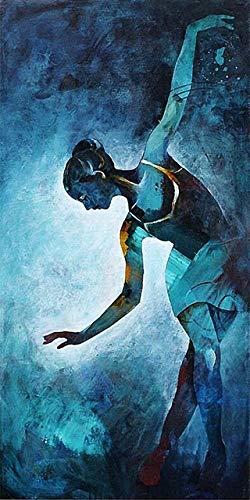 N / A Ritratto Astratto Poster e Stampa Stampa su Tela Dipinto su Tela Cornice Decorativa per Ballerino colorato Soggiorno Decorazione No Frame30x60cm