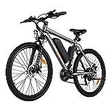 VIVI S2 Electric Bike Electric Mountain Bike E-Bike, 26'' Electric Bicycle 20Mph with 36V 10.4Ah Removable...