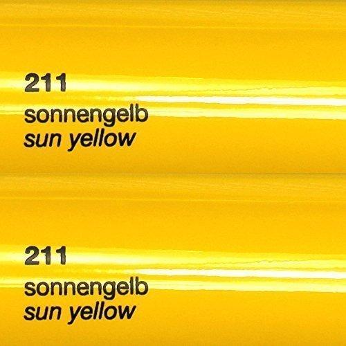 8,25€/m² Oracal 751c - 211 Sonnen Gelb - Glanz Klebefolie - 5m x 63cm - Folie - Moebelfolie - Plotterfolie - Selbstklebend - gegossen - cast