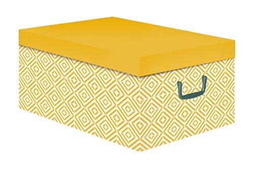 Caja de cartón amarilla, 50x 40x 25cm