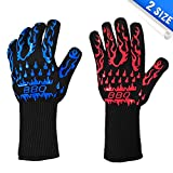 ASHLEYRIVER BBQ Grill Gloves Extreme Heat Resistant Oven Gloves for Cooking, Grilling, Baking-13