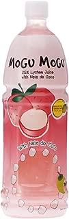 Mogu Mogu Lychee Juice with 25% Nata De Coco, 1000ml (12 Pack)