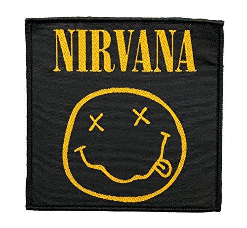 Nirvana Aufnäher Smiley Patch - (SP2793) Gewebt & Lizenziert !!