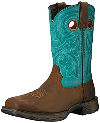Durango Women's DWRD022 Western Boot, Brown/Turquoise, 10 M US