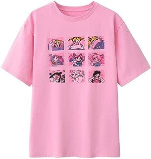 Japanese Anime Cotton Short Sleeve T-Shirt for Women Girls