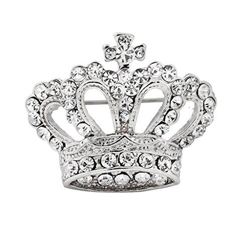 Boho Victoria Rey Navidad Boda Reina Corona De Cristal Broche De Plata