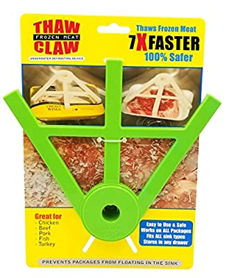 THAW CLAW (Green) - Thaws frozen meat 7X Faster & 100% Safer - Thaws in minutes instead of hours - Your favorite new kitchen from Handy Thaw