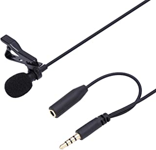 Fosa Lavalier Microphone, 3.5mm Mini Jack Wired Hands Free Clip-on Lapel Headset Mic for Apple IPhone Android Windows Smar...