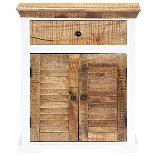 Tidyard Mangoholz Massiv Sideboard mit 1 Schublade 2 Türen Kommode Beistellschrank Mehrzweckschrank Anrichte Flurschrank Standschrank 65x30x75cm