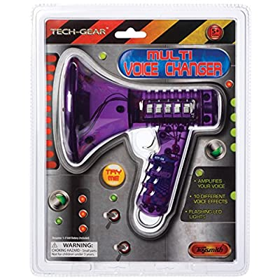 Toysmith Tech Gear Multi Voice Changer (6.5-Inch Various Colors) by Toy Smith