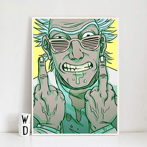 YuanMinglu Cartoon Charaktere Anime inspirierende nordische Wand Poster Druck leinwand ölgemälde wandbild Wohnzimmer Dekoration rahmenlose malerei 36x54 cm