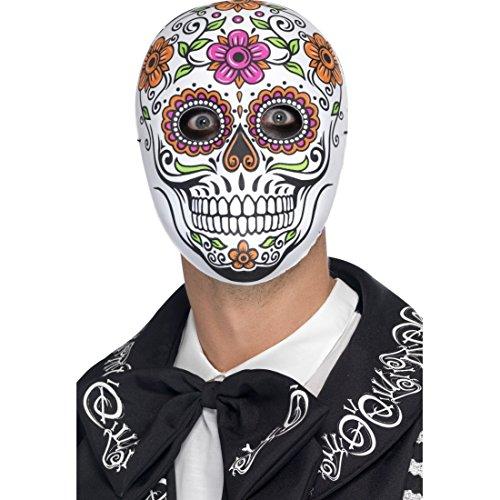NET TOYS Máscara Mexicana de Muertos Careta La Catrina Antifaz Sugar...