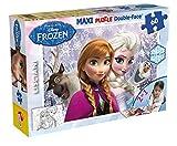 Lisciani - Frozen Maxi Double Face, puzzle coloreable, 60 piezas