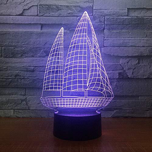 Luz de noche LED Lámpara de escritorio multicolor 3D con conexión USB