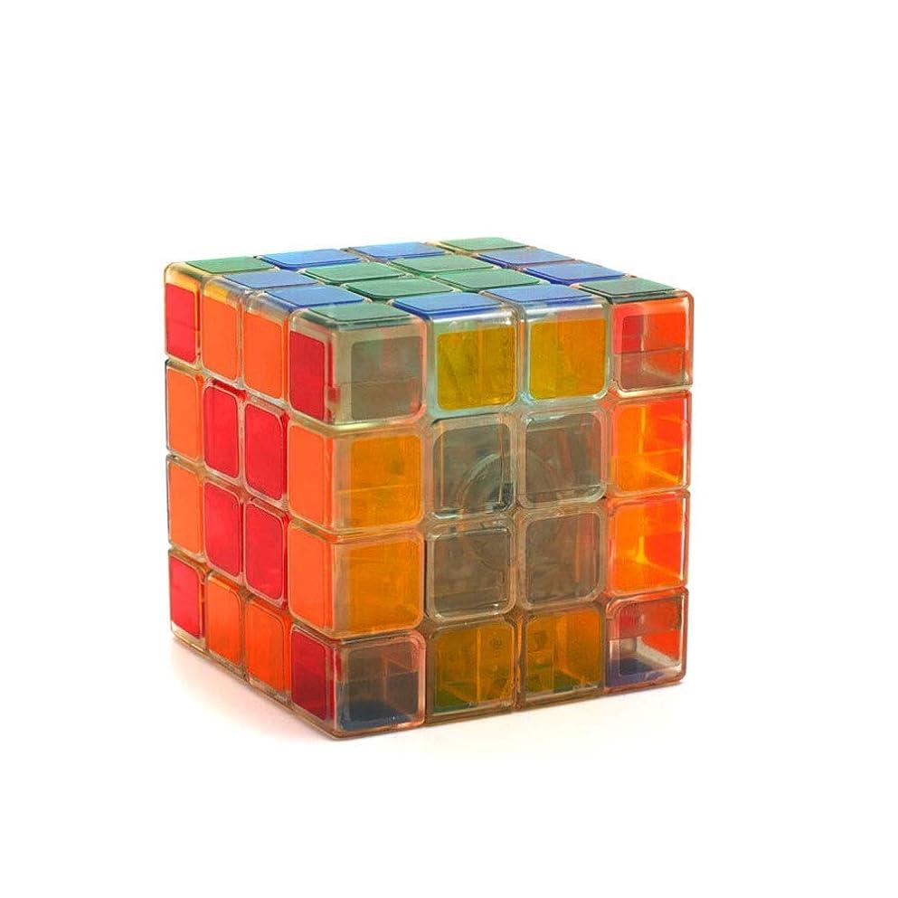 熟達引き出すスキーJinnuotong ルービックキューブ、透明スタイルスムースデザインキューブ、ギフトとして使用可能、スムーズデザインスタイル(2次/ 3次/ 4次) エレガントで快適 (Edition : Fourth order)