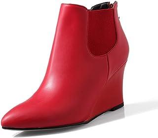 BalaMasa Womens Wedges Dress Travel Urethane Boots ABM13430