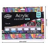 Lergo - Juego de 12 pigmentos de pintura acrílica (25 ml)