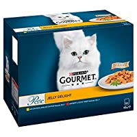Our Gourmet Perle Jelly Delight multipack contains delicious recipes in Jelly with Chicken and Beef 100% complete and balanced nutritional pet food for adult cats (aged 1 to 7). Served in 85g pouches to keep every meal fresh and convenient Packed wit...