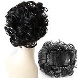 PRETTYSHOP Dutt Haarteil Zopf Haarknoten Hepburn-Dutt Haargummi Hochsteckfrisuren schwarzbraun #3 HK102