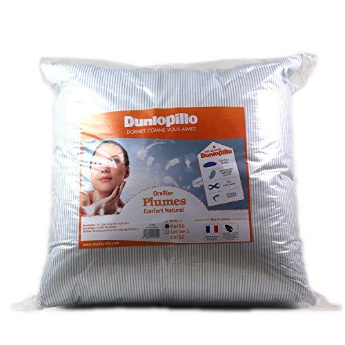 Dunlopillo ORPPCN060060DPO - Almohjada (60 x 60 cm), Color Azul