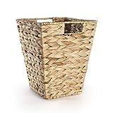 Cesta de papel de desecho de hoja de plátano natural | Contenedores de mimbre para dormitorio | Reciclaje de papel | Cubo de basura tejido | M&W