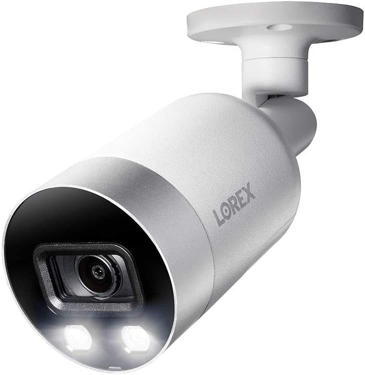 4K Ultra HD Analog Active Deterrence Add-on Security Bullet Camera with Color...