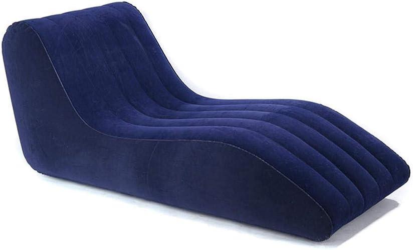LUYION Canapé-lit Gonflable Matelas Simple Chaise Longue Pliage étanche Meubles de Salon Camping Voyage Randonnée Plage