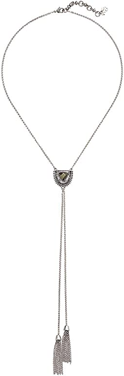 Pave Tribal Half Circle Y-Necklace