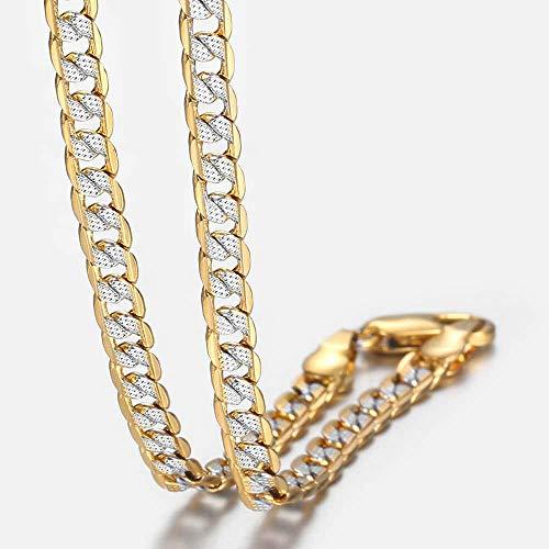 NUANYANG Collar de Cadena Cubana de Moda joyería China_22inch 55cm