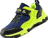 Lvptsh Zapatillas y Calzado Deporte Niños Zapatillas de Senderismo Niño Impermeables Botas de Montaña Zapatillas Trekking Aire Libre,Bluegreen,EU36
